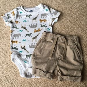 12-18 MO Old Navy Safari Outfit - NWOT